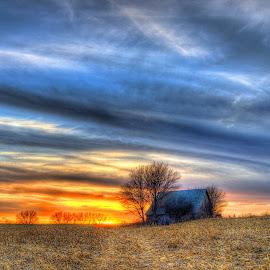 Quiet by Derrill Grabenstein - Landscapes Prairies, Meadows & Fields