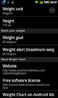 Screenshot of Weight Chart v2