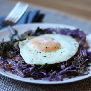 Eggs with Peacock Kale