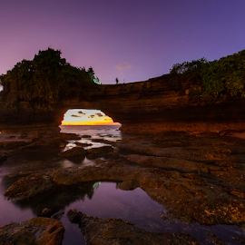 The Magical Temple by Nyoman Sundra - Landscapes Sunsets & Sunrises ( temple, bali, sunset, landscape, tabanan )