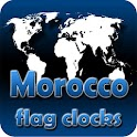 Morocco flag clocks