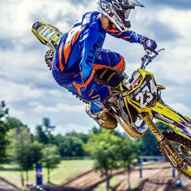 Throwing it by Josh Rud - Sports & Fitness Motorsports ( redbud, suzuki, motocross, racing, off road, motorcycle, dirt bike, dirt, whip )