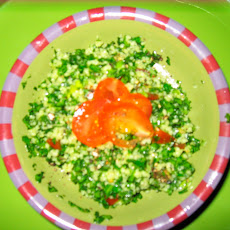 Tabbouleh with Tomatoes, Couscous, Green Onions & Basil Oil