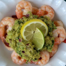 Shrimp with Citrus Avocado Mash