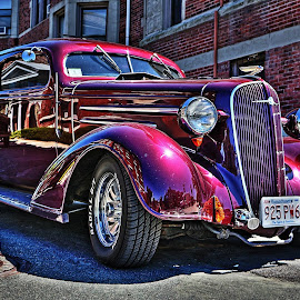 Purple car by Chuck Jones - Transportation Automobiles