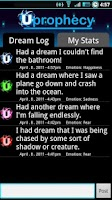 Screenshot of Dream Log