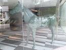 Khaki Horse In A Window