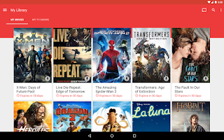 Screenshot of Google Play Movies & TV