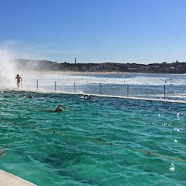 At The Icebergs by Kamila Romanowska - Instagram & Mobile iPhone ( iceberg, pool, australia, beach, rock pool, bondi, sydney )