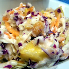 Nutty Pineapple Coleslaw (Low-Fat)