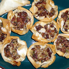 Chanterelle Mushroom and Bacon Tartlets