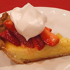 Strawberry- Lemon Buttermilk Pie