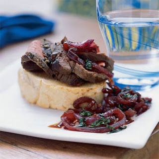 London Broil with Texas Toast and Red Onion Jam