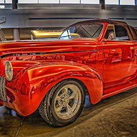 Blacktop Nationals - Red Coupe by Ron Meyers - Transportation Automobiles