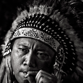 smoking Indian by Ivan Lee - People Portraits of Men ( canon, smoking, indian, portrait, man,  )