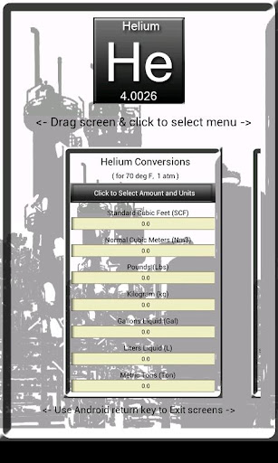 Helium Unit Calculator