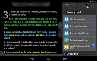 Screenshot of Holy Bible King James Version