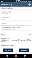 Screenshot of TARGOBANK Mobile Banking