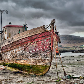 Waiting for the Tide by John Passmore - Transportation Boats ( scotland, scottish highlands, isle of raasay, raasay, boat )