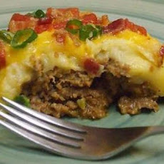 Bacon Cheeseburger Potato Pie