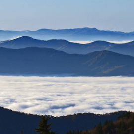View from Clingman's Dome by Chuck Hagan - Landscapes Mountains & Hills