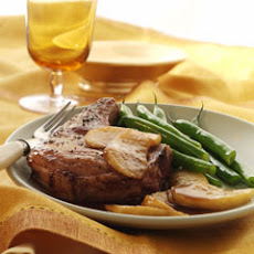 Savory Pork Chops & Brown Sugar-glazed Apples