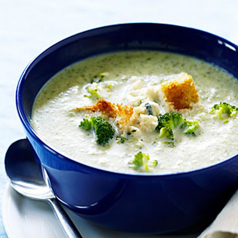Broccoli Soup with Blue Cheese