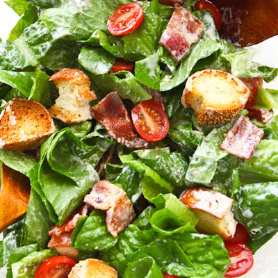 BLT Salad with Buttermilk Dressing