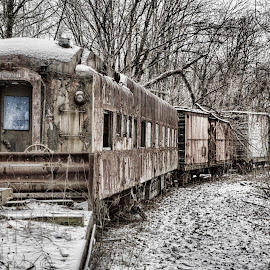 Ghost Train by Kim Wilhite - Transportation Trains ( railway, train, transportation, antique )