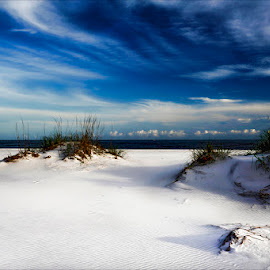 Sand and Sky by Dub Scroggin - Landscapes Beaches ( emerald coast, florida, beach, white sand, okaloosa island )
