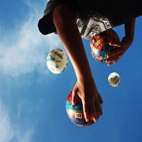 Frozen By Youth by Blake Coln - People Portraits of Men ( ball, sky, juggling, juggle, skating )