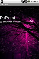 Screenshot of Daf Yomi