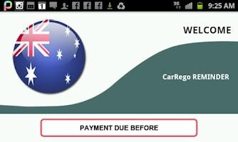 Screenshot of CarRego