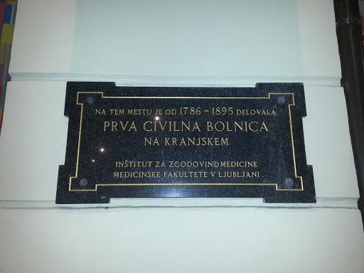 Ljubljana Prva Civilna Bolnica Na Kranjskem