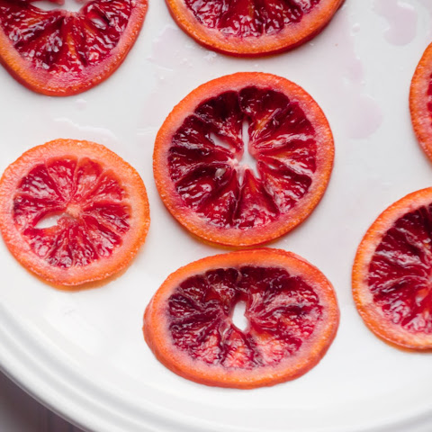 Candied Blood Orange Slices with Dark Chocolate