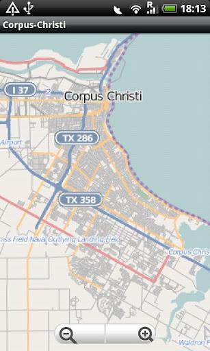 Corpus Christi Street Map