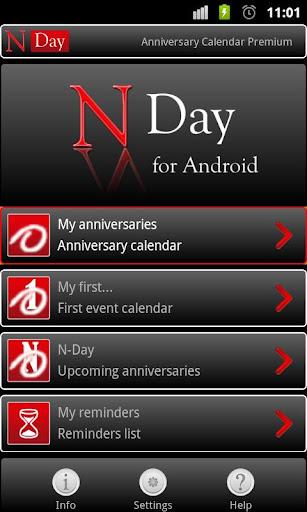 NDay Anniversary Calendar Free