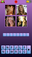 Screenshot of 4 Pics 1 Celeb: Find the Word!