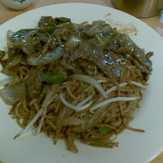 Beef, Black Beans and Rice Noodles With Oyster Sauce