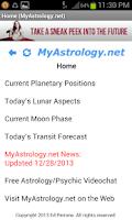 Screenshot of MyAstrology.net