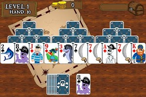 Screenshot of Pirate TriPeaks Solitaire