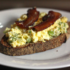 Open-Faced Egg Salad Sandwich With Bacon
