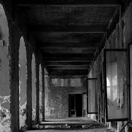 Last passage by Babos Valentin-Robert - Buildings & Architecture Architectural Detail ( natural light, detail, building, black and white, architectural detail, architecture )
