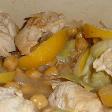 Lemon Chicken With Chickpeas and Artichokes