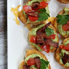 Grilled Cheese Guacamole and Bacon Bruschetta