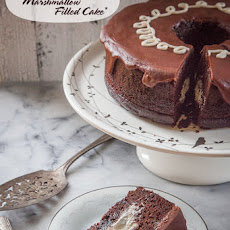 Chocolate Marshmallow Cake, inspired by the Hostess™ Cupcake