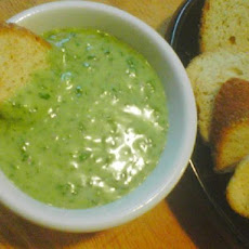 Garlic Spinach Cheese Fondue (The Stinking Rose Rest.)