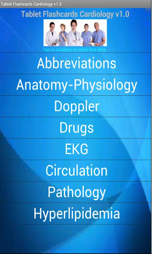 Tablet Flashcards Cardiology
