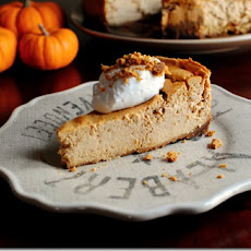 Pumpkin Gingersnap Cheesecake