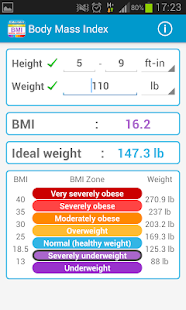 Body Mass Index Calculator BMI - screenshot